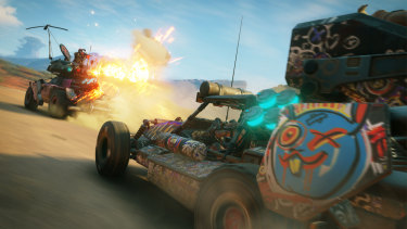 There's a whole separate system for upgrading and unlocking vehicles, which are good not only for getting around by for taking on convoy's Mad Max style.