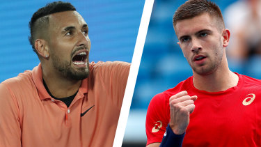 Nick Kyrgios and Borna Coric.