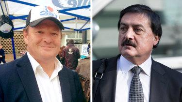 Left: Sutherland councillor Kent Johns. Right: Developer Charlie Demian