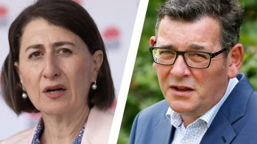 The governments of Gladys Berejiklian and Daniel Andrews have different approaches to the question of border closures.