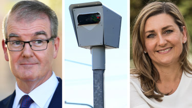 Staff of Michael Daley, left, used an MP hotline to shift a speeding ticket from the NSW Labor leader to his wife, right.