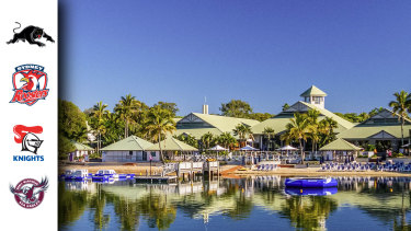 The Panthers, Roosters, Knights and Sea Eagles will all share the Sunshine Coast hub. It's the same hotel Melbourne stayed at last year.
