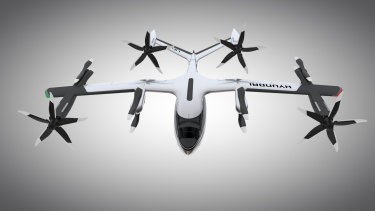 Hyundai's flying taxi concept was created in part throughg Uber's open design process, and is designed to operate in the company's future aerial ride share network.