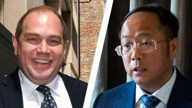 Left: Former NSW Labor Party boss Jamie Clements outside ICAC this week. Right: Huang Xiangmo, the Chinese property developer and prolific party donor.