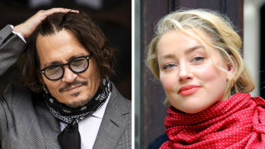 Johnny Depp accused Amber Heard of hitting him with a 'haymaker' punch during an altercation near the end of their volatile marriage.