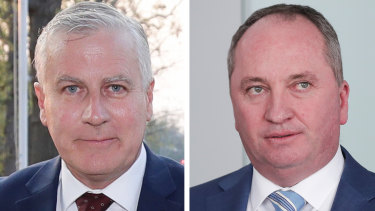 Michael McCormack and Barnaby Joyce.