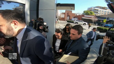 Treiza and Meriam Bebawy arrive at Bankstown Local Court last week.