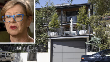 Lawyer Vanessa Hutley and her neighbour's house in Balmain. Ms Hutley won her appeal against a decision ordering her to pay $360,000 in damages.
