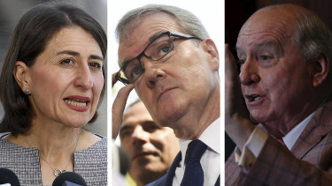 """Premier Gladys Berejiklian has labelled as """"hot-headed"""" Michael Daley's intention to sack Alan Jones and other board members from the SCG Trust if Labor is elected."""
