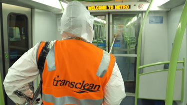 Transclean ramps up its cleaning of Metro's trains during the COVID-19 pandemic.