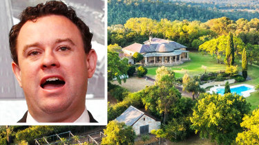 The Fernhill estate and, inset,Minister for Western Sydney Stuart Ayres.
