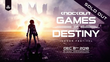 A promotional image for Knockout Games of Destiny, where four people suffered from suspected overdoses and one died