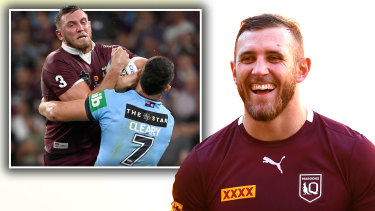 Queensland's Kurt Capewell will line up against six of his Panthers teammates on Wednesday night.