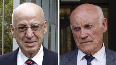 Former Labor ministers Eddie Obeid and Ian Macdonald outside court this week.
