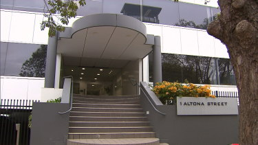 Deputy Lord Mayor Sandy Anghie's office entrance on 1 Altona Street in West Perth.