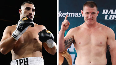 Justis Huni and Paul Gallen have signed to fight in June.
