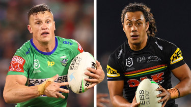 Jack Wighton and Jarome Luai are engaged in a battle for the NSW No.6 jumper, with the Canberra playmaker set to get the nod.