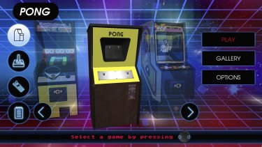 The system comes with a 'vault' of more than 100 very old games.