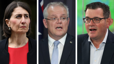 Gladys Berejiklian, Scott Morrison and Daniel Andrews use a WhatsApp group with the other state and territory leaders.