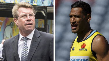 Folau supporter: Former Wallabies captain Nick Farr-Jones.