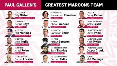 Paul Gallen's greatest Queensland team.