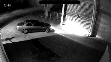CCTV shows Dale Pantic's 2005 silver Ford Falcon leaving a Sale propertyabout 10.58pm on April 12, 2019, two days after his mystery disappearance.Dale wasn't behind the wheel and police are appealing for the public's help to identify the mystery driver.