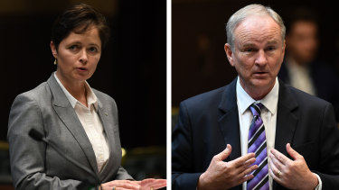 Potential defectors: Liberal MPs Tanya Davies and Kevin Conolly.