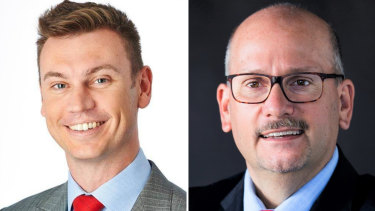 City of South Perth mayoral candidates Greg Milner and Travis Burrows.