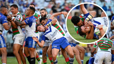Cody Walker and Kyle Flanagan went at it earlier in the year during a spiteful Good Friday clash at Stadium Australia.