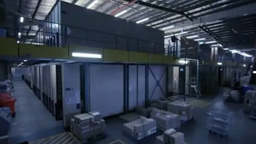 Victoria Police's Archive Services Centre, which contains more than 135,000 boxes of documents