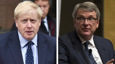British Prime Minister Boris Johnson, left, and Lynton Crosby, who has contributed to Coalition election victories in Australia and Conservative wins in the UK.