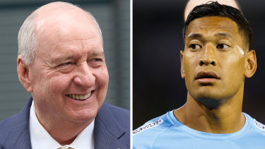 Broadcaster Alan Jones threw his support behind Israel Folau.
