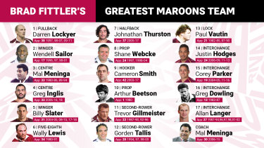 Brad Fittler's greatest Queensland team.
