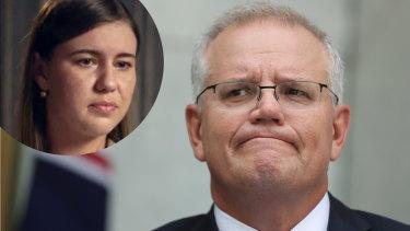 Prime Minister Scott Morrison apologised to former Liberal staffer Brittany Higgins, inset.