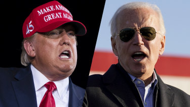 US President Donald Trump and Democratic challenger Joe Biden.