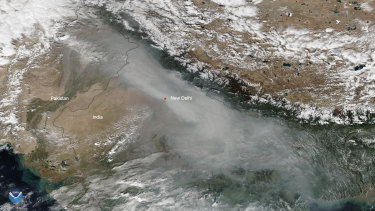 """Air quality levels in India's capital city of New Delhi reached the """"severe plus"""" level on Friday, prompting the government to declare a public health emergency."""