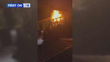 The fire at the Browns Plains unit.