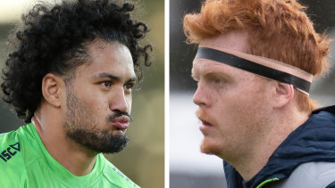 Canberra Raiders stars Corey Harawira-Naera and Corey Horsburgh have been charged with drink driving in separate incidents over the Christmas holidays.