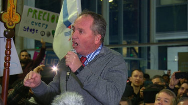 Former deputy prime minister Barnaby Joyce joins an anti-abortion rally in Sydney amid the debate in the NSW Parliament.