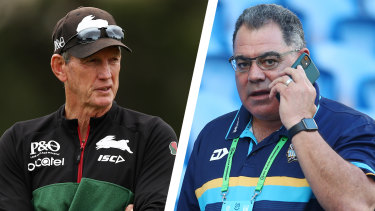 Wayne Bennett and Mal Meninga.