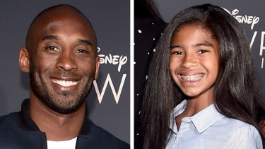 Former NBA player Kobe Bryant and Gianna Maria-Onore Bryant.