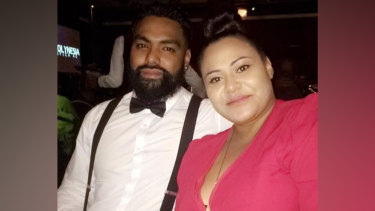 Ianeta Isaako, pictured with her husband, died after being diagnosed with COVID-19.