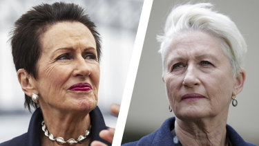 Sydney's lord mayor race this year will be a clash between bitter rivals Clover Moore (left) and Kerryn Phelps.