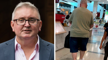 Arts Minister Don Harwin photographed shopping at Eastgardens Westfield