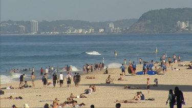The Gold Coast, Brisbane and Sunshine Coast are tipped to feel the heat on Sunday.