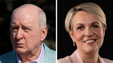 Friends despite their political differences: veteran broadcaster Alan Jones and Labor frontbencher Tanya Plibersek.