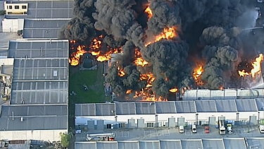 The toxic blaze in Campbellfield in April this year.