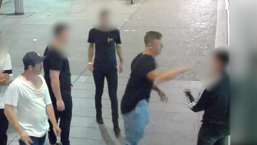 Capital crime: The CCTV footage of Wighton's wild night out in Canberra was not pretty.