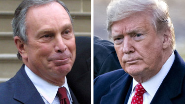 Michael Bloomberg, left, is hoping to win the Democratic nomination to go head to head against Donald Trump in 2020.