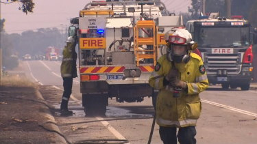 The blaze burned through 15 hectares of land.